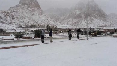 صورة حالة الطقس اليوم.. انخفاض درجات الحرارة وسقوط أمطار غزيرة وثلوج