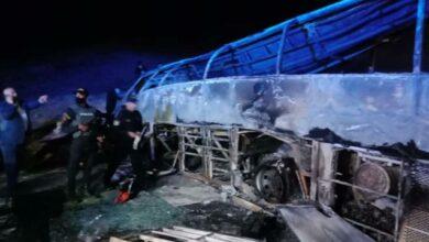 صورة تفاصيل حادث أسيوط.. مصرع 20 مواطنا وتفحم عدد من الجثث
