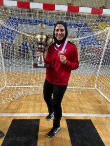 سارة حسام لاعبة الأهلي لكرة اليد