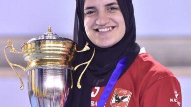صورة مي محمود لاعبة الأهلي تكشف لـ«حصري 24» كواليس التتويج باللقب «حوار»