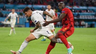 صورة ملخص ونتيجة مباراة إيطاليا ضد بلجيكا في يورو 2020