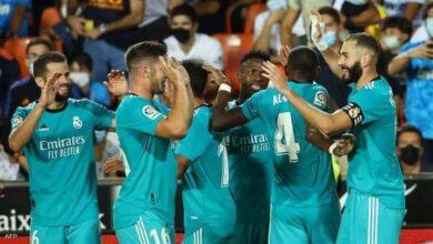 صورة أهداف ريال مدريد وفالنسيا في الدوري الإسباني.. فوز صعب للملكي