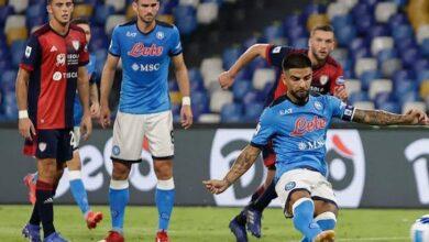 صورة أهداف نابولي وكالياري في الدوري الإيطالي