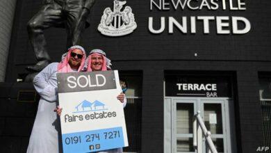 """صورة نيوكاسل يطلب من مشجعيه عدم ارتداء """"الشال والعقال"""" السعودي"""