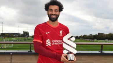 صورة محمد صلاح لاعب الشهر في ليفربول: هدفي في ميلان هو الأهم