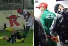 """صورة لاعب برازيلي يتلقى عقوبات قاسية: """"ضرب حكم وكان هيموته"""""""